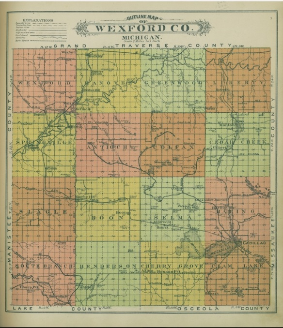 1914-wexford-county-color-map