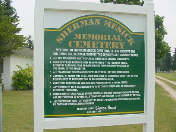sherman-mesick-cemetary-sign